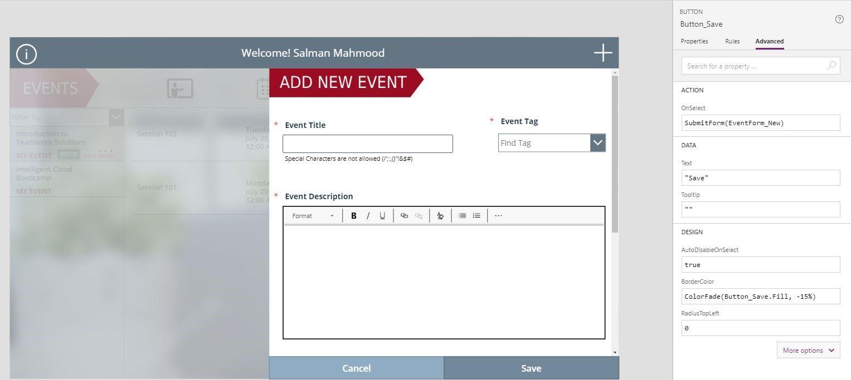 add new event