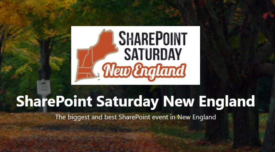 We're sponsoring SharePoint Saturday New England